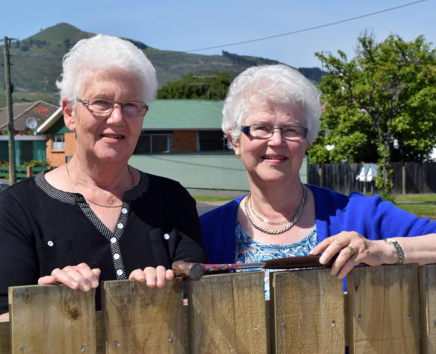 Sisters Pat Wright (left) and Jean Kidd, both of Mosgiel, have given money to become pool...