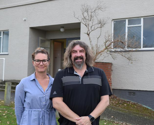 Chain Hills Community Trapping Project founder Rebecca Guest and committee member Jonathan Usher....