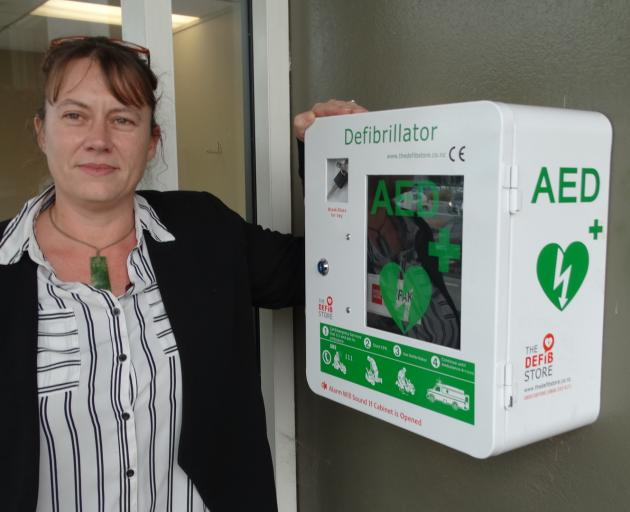 First Aid Solutions Otago-MediTrain Otago director Julie Walker has had a defibrillator laced on...