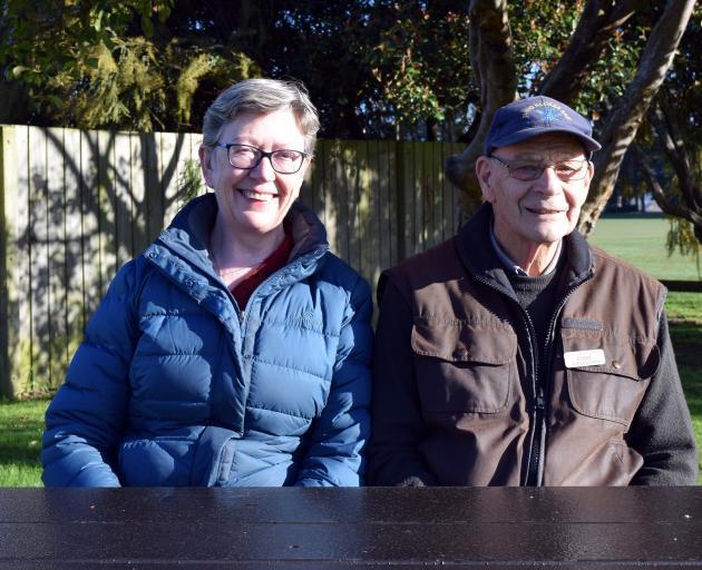 Mosgiel-Taieri deputy chairwoman Joy Davis and Taieri Blokes' Shed vice-president Eddie...