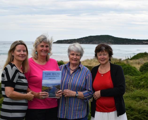 From left: Family historian Elizabeth Cowie, Taieri Mouth Amenities Society president Jeannine...