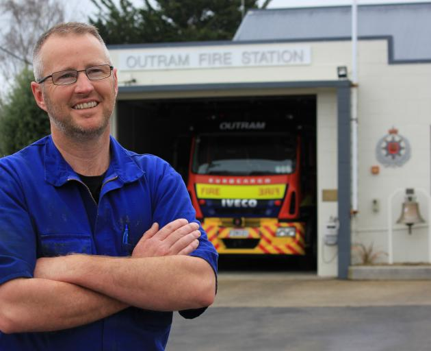 Butchery owner Lyndon Gold is learning the ropes at the Outram Volunteer Fire Brigade. PHOTO:...