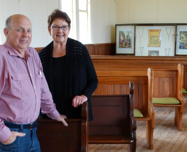 Taieri Historical Society president Neil Gamble and secretary Zelda Matheson stand in the...