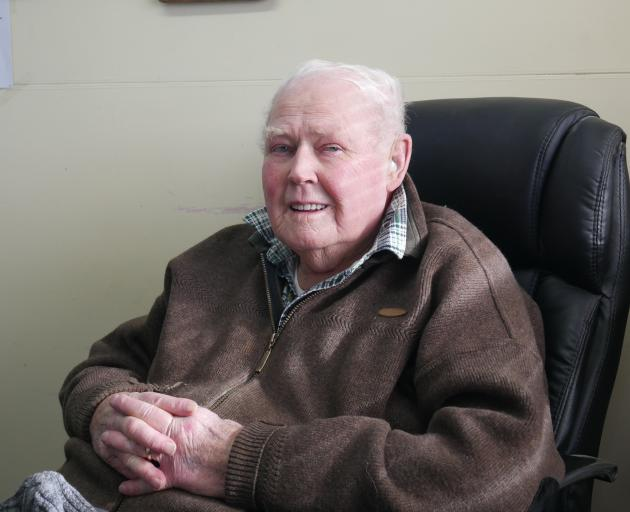 Abbotsford resident George Ellis was working to fill cracks in the street when the landslip...