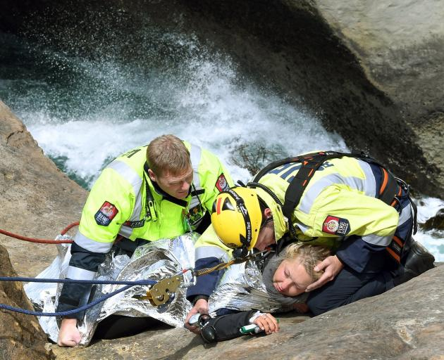 Johanna Langner was stranded on a ledge at Dunedin's Tunnel Beach last November. She is now back...