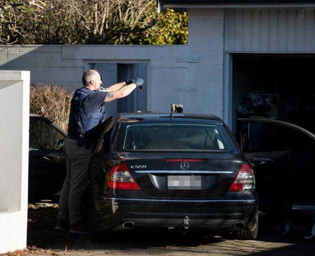 Police say it was a planned search. Photo: George Heard / NZH