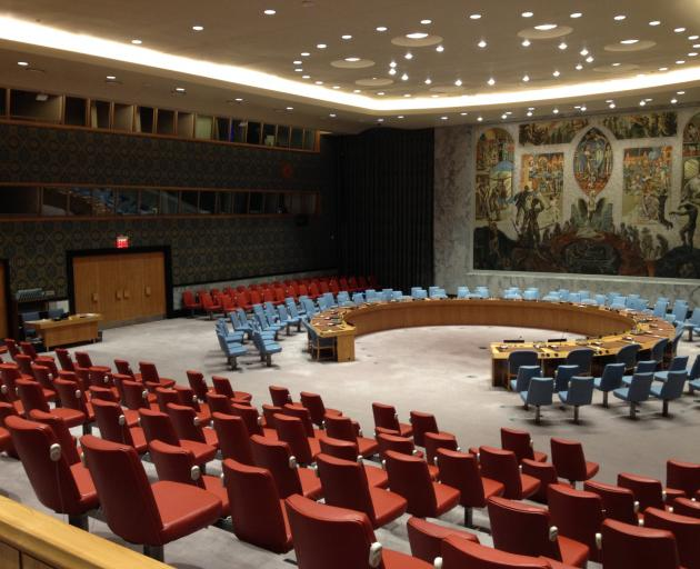 The Security Council chamber at the United Nations. PHOTO: HELEN SPEIRS