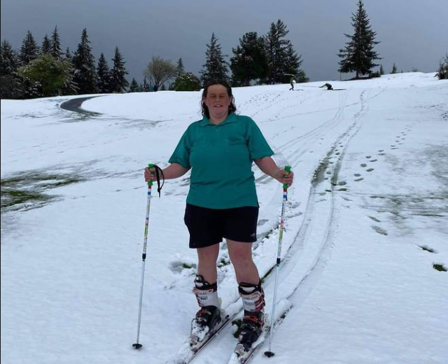 Natalie Urbani says she hadn't been able to ski on the golf course grounds since the 90s. Photo:...
