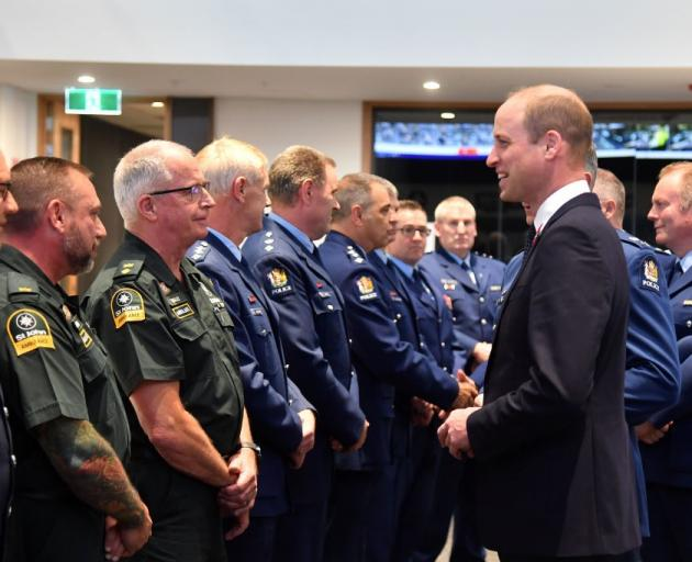 Prince William met with first responders to the mosque attacks including St John ambulance staff...