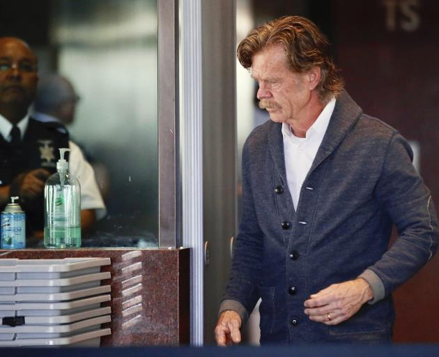 Actor William H. Macy arrives at the federal courthouse in Los Angeles. Photo: AP