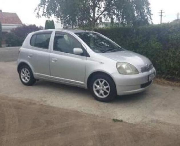Police are appealing for sightings of Mr Wilson's Toyota Vitz. Photo: NZ Police