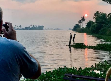 Antony Boomer finally gets a much anticipated sunrise over a channel off Lake Vembanad. PHOTOS:...