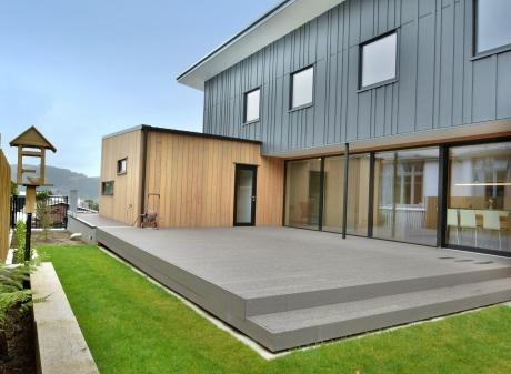 The exterior cladding is a combination of fibrous cement panels and western red cedar. Other...