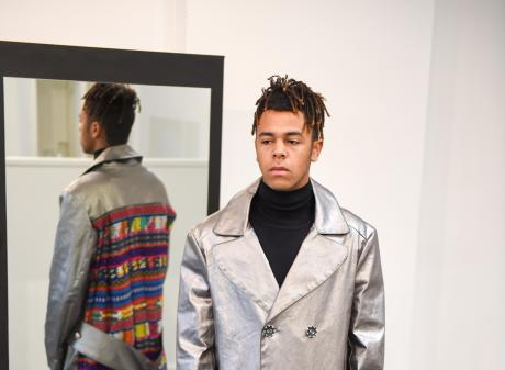 Taylor-Blair's ''Border Coat'', which won the menswear category. Photos: Supplied