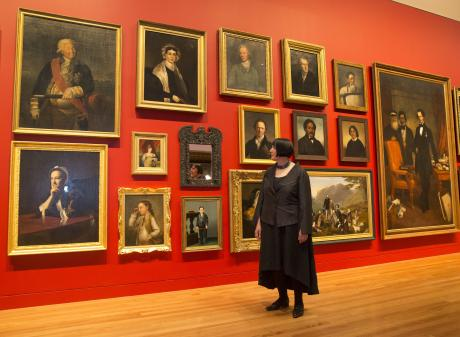 Te Papa head of art Charlotte Davy looks over the ''Turangawaewae Exhibition''. Photo: NZ Herald