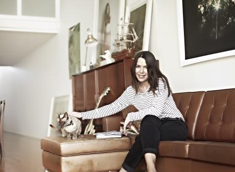 Amber Gardner, the designer behind the label Shjark