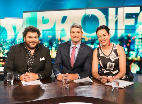 Josh Thomson (left), Jesse Mulligan and Kanoa Lloyd host Three's new current affairs show 'The...