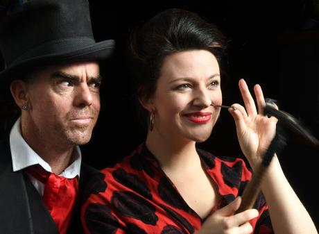 Variety artists David Ladderman and Lizzie Tollemache are set for their magic and sideshow stunt...