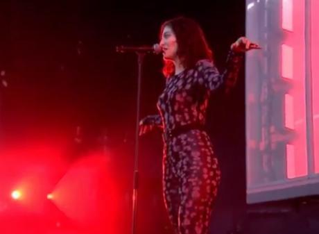 Lorde's debut at Glastonbury music fest in UK, 2017. Photo: Twitter