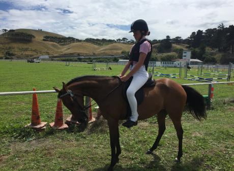 Kate McConchie (12) and Spark will be competing in jumping events for the first time at an A&amp...