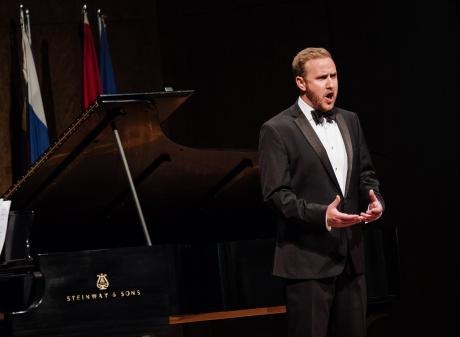 Former Dunedin opera singer Julien Van Mellaerts performs at the prestigious Concours Musical...