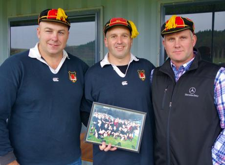 From left: Dan Meikle, Chris Linwood and Gary Heselwood, from the Waitaki Boys' team of 1998....