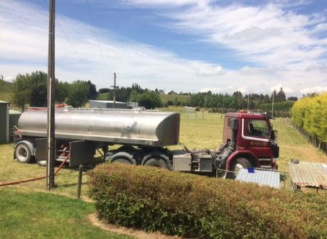Servicing the community . . . Caldwell Contracting can supply drinking water, which is sourced...