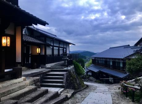 The small village of Magome as night falls. PHOTOS: TNS