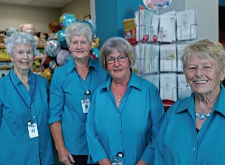 Pink lady volunteers: Lucille Cook, Noeleen Little, Isla Thompson and Bev Lockett