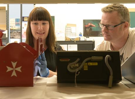 Toitu Otago Settlers Museum collections assistant Beth Rees and acting visitor experience...