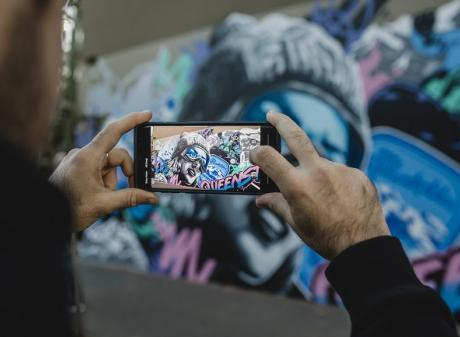Alex Lehours' mural on a wall in Surry Hills, Sydney. Photo: Billy Zammit