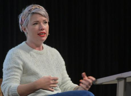 """Australian writer Clementine Ford at """"That F Word"""", a Dunedin Writers & Readers Festival..."""