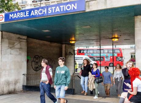 The incident occurred at London's Marble Arch tube station. Photo: Getty
