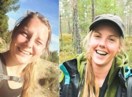 Louisa Vesterager Jespersen (L) and Maren Ueland were killed in their tent in December near the...
