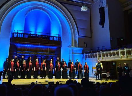 Voices New Zealand, which is touring New Zealand with Follow the Star,  performs in Cadogan Hall,...