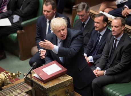 Boris Johnson in Parliament. Photo: Reuters