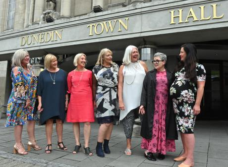 Looking forward to the future of iD Fashion are committee members (from left) Tania Dickie,...