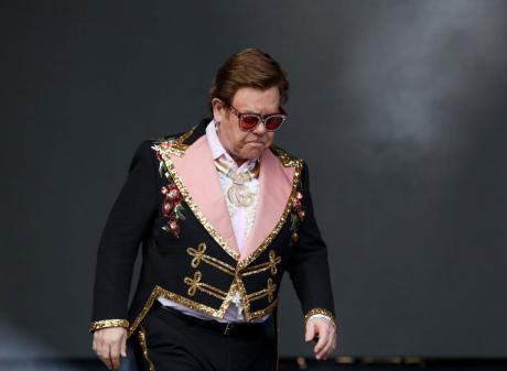 Elton John was forced to end his concert at Auckland's Mt Smart stadium on Sunday night. Photo:...