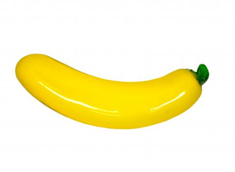 """Glass Banana, donated to the """"Museum of Broken Relationships"""" exhibition. Photo: Otago Museum"""