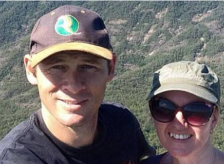 Pilot Ian Pullen, pictured with wife Vicki, was killed in a hit and run in NSW while in Australia...