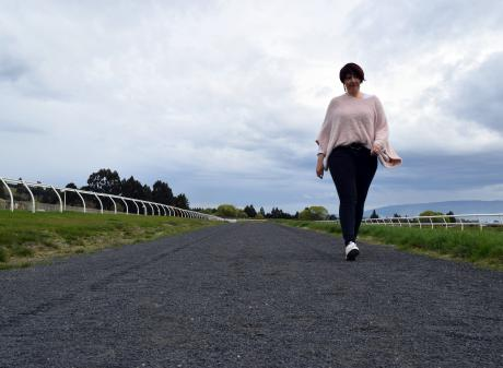 Otago Racing Club general manager Rebecca Adlam is asking dog owners to remove their pet's poo...