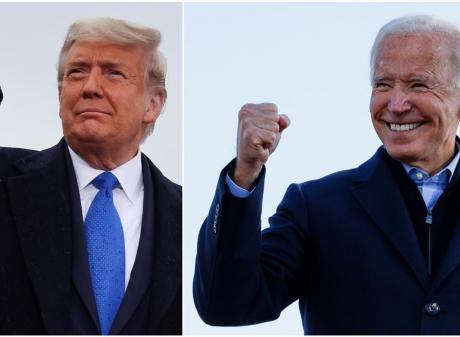 Donald Trump (L) and Joe Biden are vying to be president of the United States. Photo: Reuters