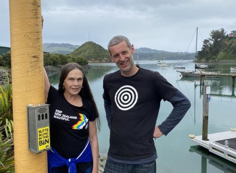 Port Chalmers community advocate Kilda Northcott and West Harbour Community Board member Duncan...