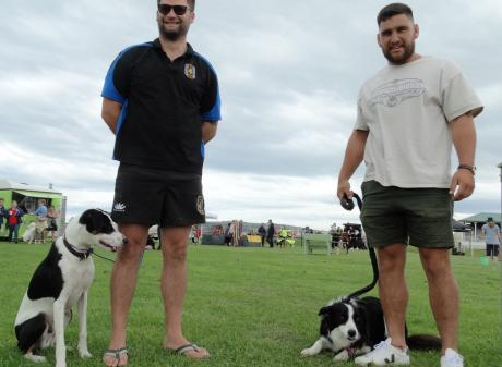 Owner of the first Waitaki Super Dog Kwaye Raumati (left) and super dog Finnigan. PHOTO: RUBY...