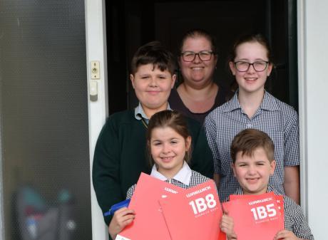 Melissa Gawn's children (clockwise from bottom left) Elayna (9), Ryan (13) Nerida (12) and Archer...