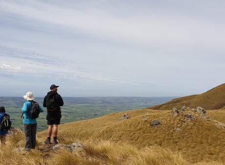 The Mauka Atua ridgeline stretches away south, while the Taieri Plain lies below. PHOTOS: CLARE...