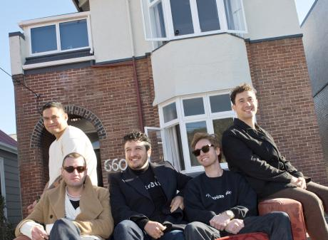 Six60 band members (from left) Eli Paewai, Chris Mac, Matiu Walters, Ji Fraser, and Marlon Gerbes...