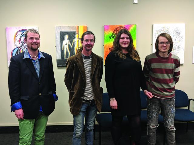 Daniel Anngow, Glenn Burns, Hannah Short, and James Thomson-Bache