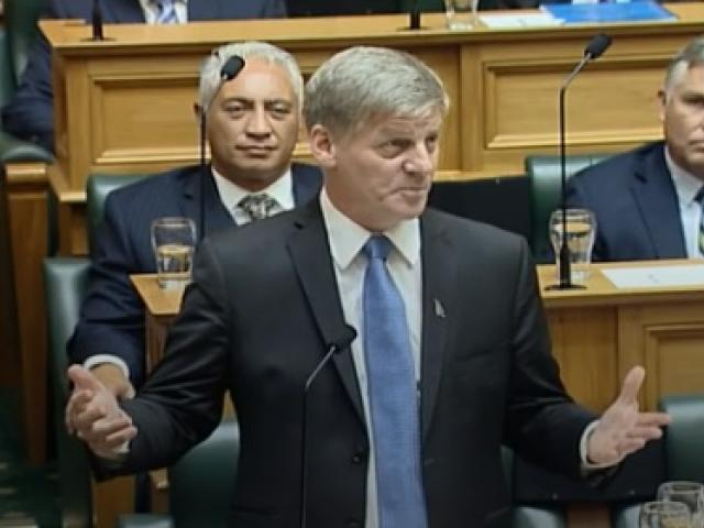 Bill English delivered his valedictory today after announcing a fortnight ago that he was leaving...