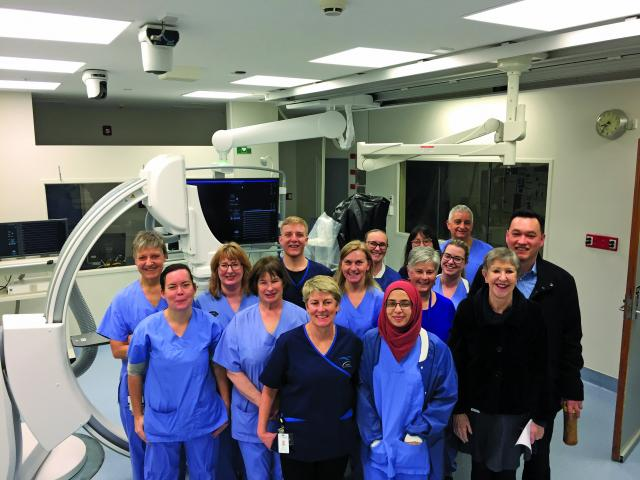 Dunedin Hospital cardiac staff in the refurbished Cardiology Catheter Suite